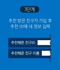 3단계 추천 받은 친구가 추천ID 정보 입력