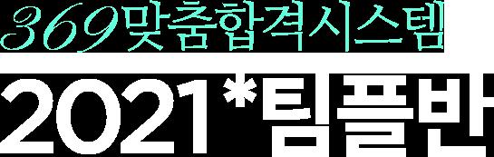 369맞춤합격시스템 2021 팀플반