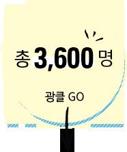 총 3600부 광클