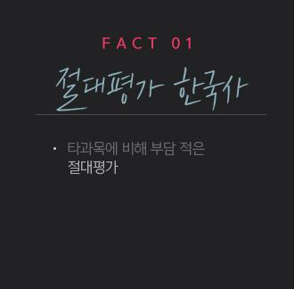 팩트1 절대평가 한국사