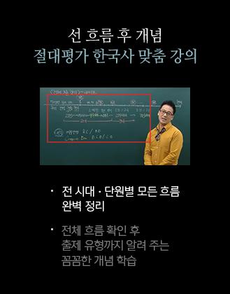 선 흐름 후 개념 절대평가 한국사 맞춤 강의