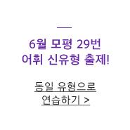 6월 모평 29번 어휘 신유형 출제