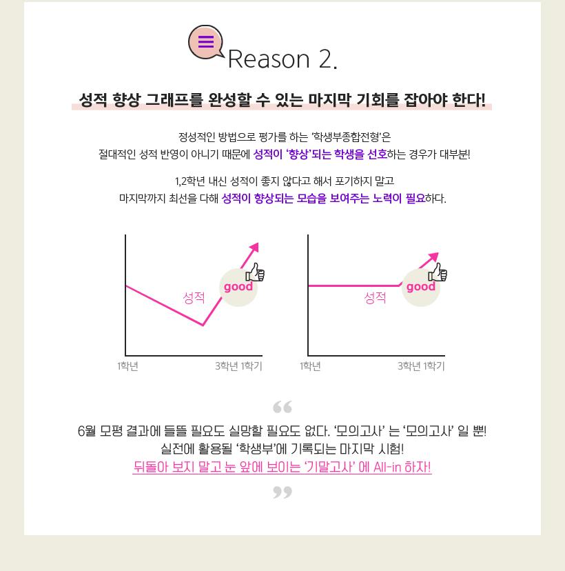 Reason 2. 성적 향상 그래프를 완성할 수 있는 마지막 기회를 잡아야 한다!