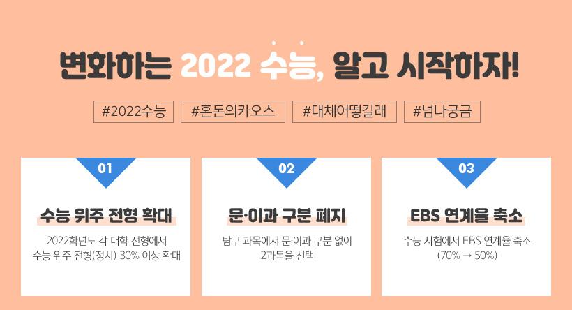 변화하는 2022 수능, 알고 시작하자!