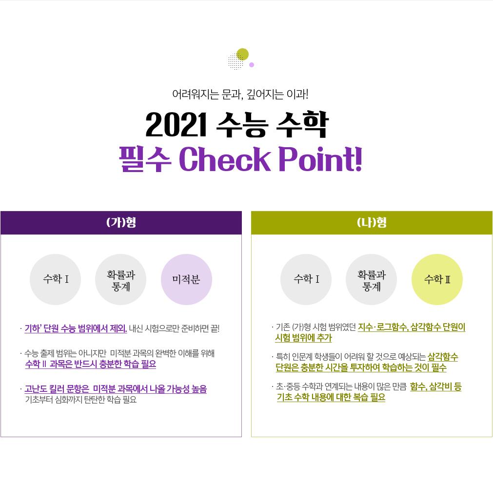 2021 수능 수학 필수 Check Point!