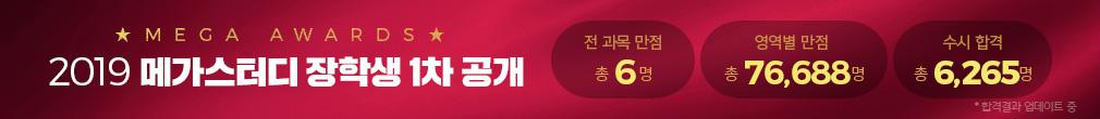 2019 메가스터디 장학생 대공개