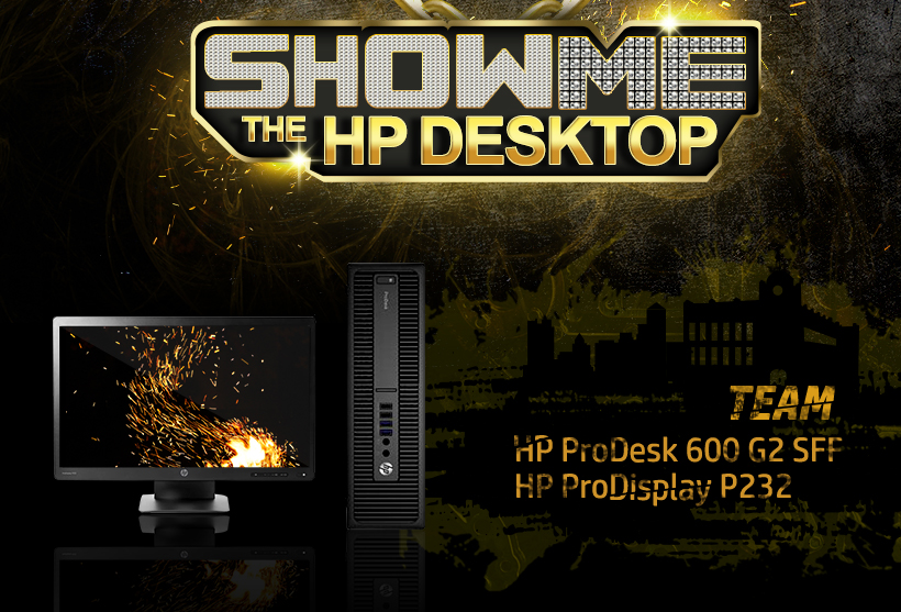SHOW ME THE HP DESKTOP / TEAM HP ProDesk 600 G2 SFF / HP ProDisplay P232