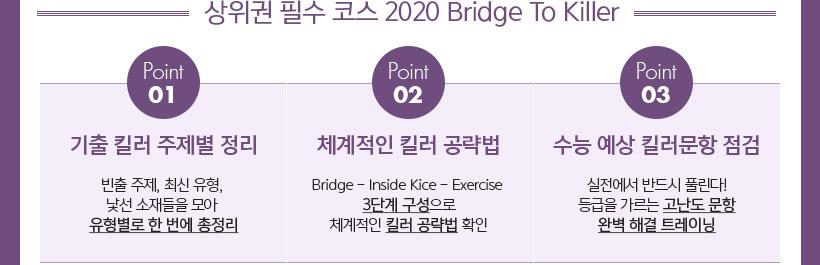 상위권 필수 코스 2020 Bridege To Killer, 체계적으로 대비하는 킬러 공략 3 STEP
