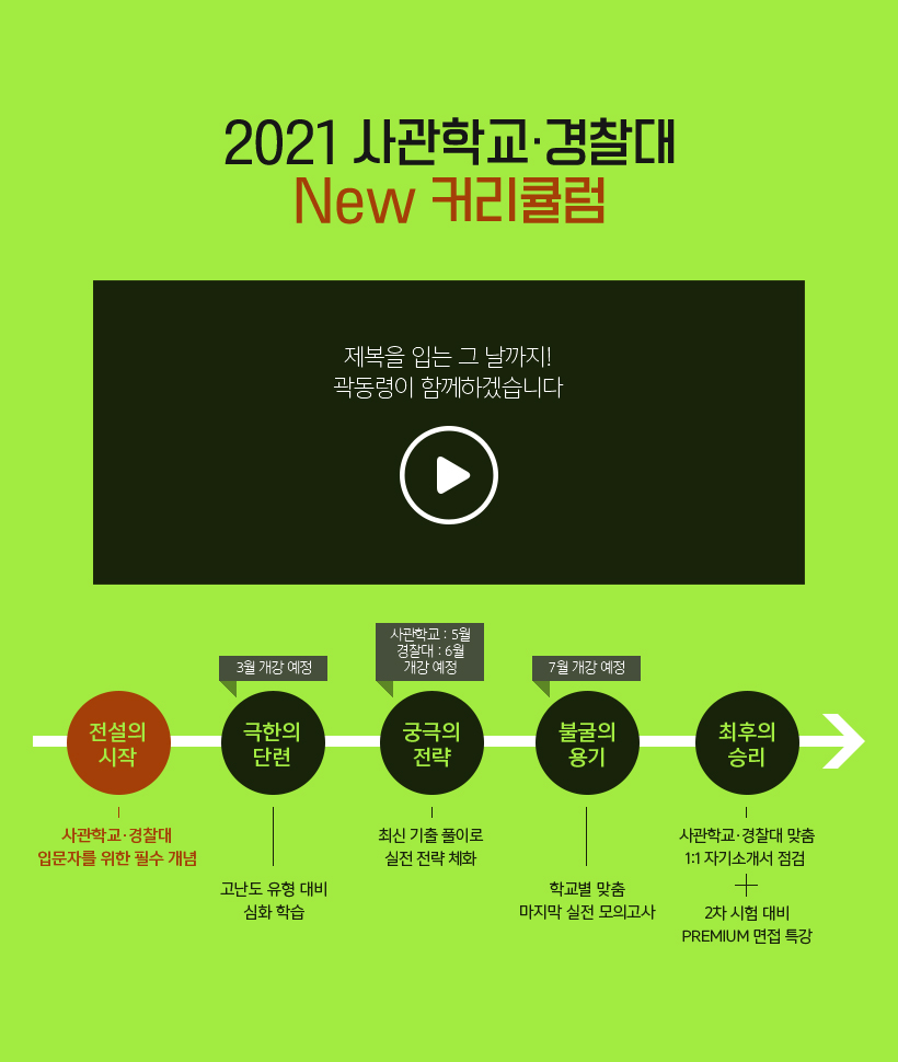 2021 사관학교 · 경찰대 New 커리큘럼