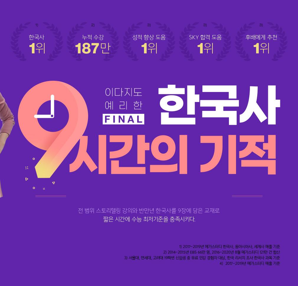 이다지도 예리한 파이널 한국사  9시간의 기적