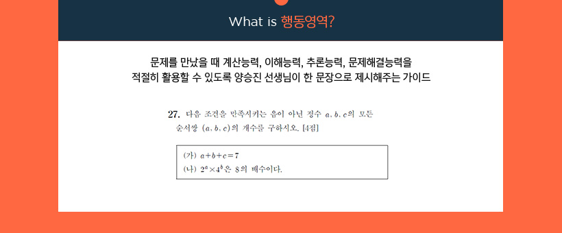 What is 행동영역?