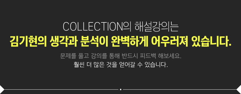 COLLECTION의 해설강의는 김기현의 생각과 분석이 완벽하게 어우러져 있습니다.