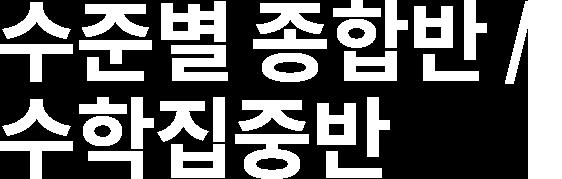 수준별 종합반 / 수학집중반