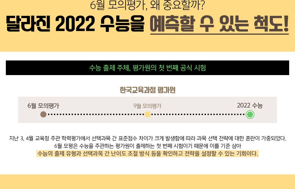 달라진 2022 수능을 예측할 수 있는 척도!