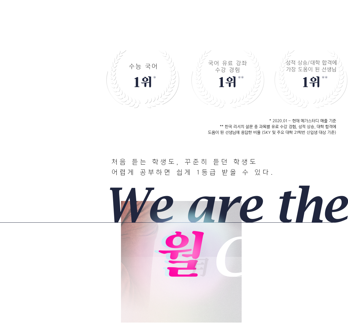 We are the 월 Class